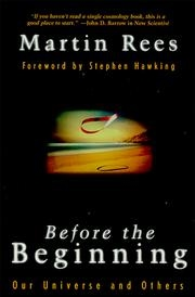 Book cover for Before the Beginning by Martin Rees