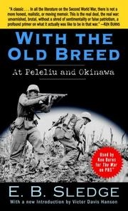 Book cover for With the Old Breed by E.B. Sledge