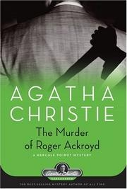 Book cover for The Murder of Roger Ackroyd by Agatha Christie