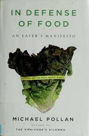 Book cover for In Defense of Food by Michael Pollan