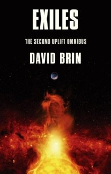 Book cover for Exiles : the second Uplift trilogy by David Brin