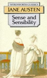 Book cover for Sense and Sensibility by Jane Austen