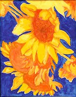 Angel Torsen Art - Sunflowers 1, Acrylic on Canvas