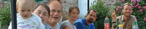 François et Marguerite Anglade en vacances avec Alexia, Miryam, Alexis