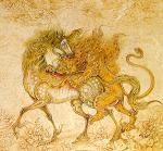 MEHREGAN  MAJID نبرد اسب وشیر  lion and horse war نقاشی نقاش paint painting painter