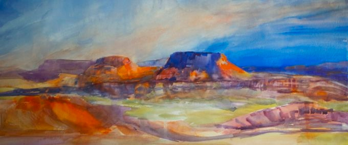 Desert Vista. Watercolor