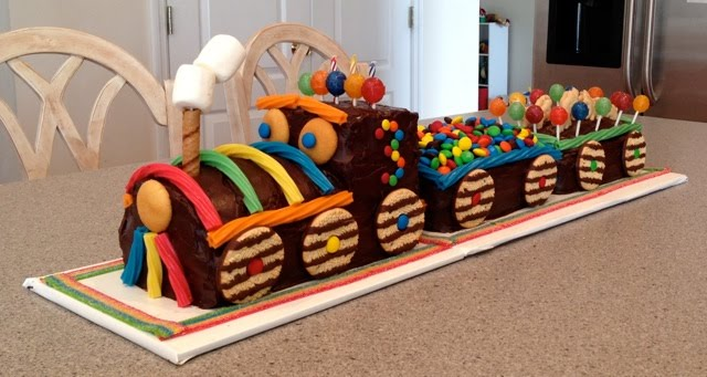 Chocolate Train Birthday Cake