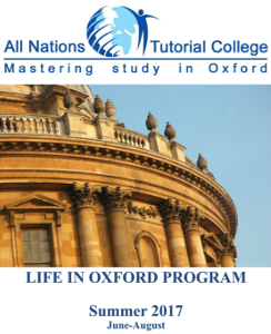 Life in Oxford Summer Program 2017