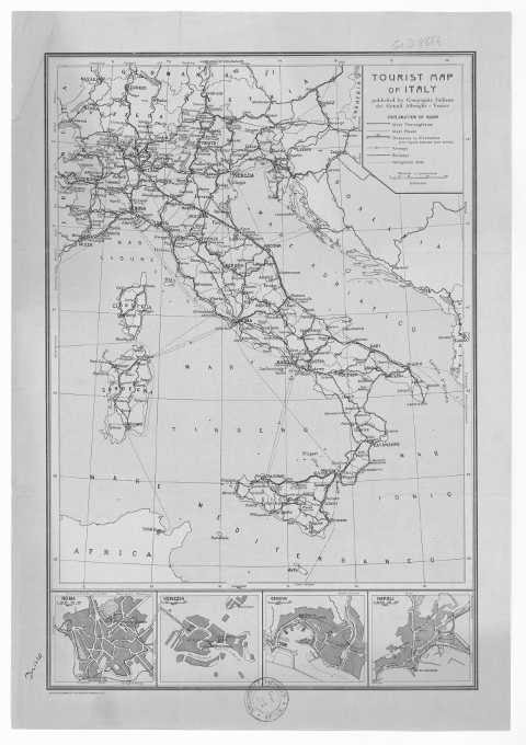 Tourist Map of Italy - 1931