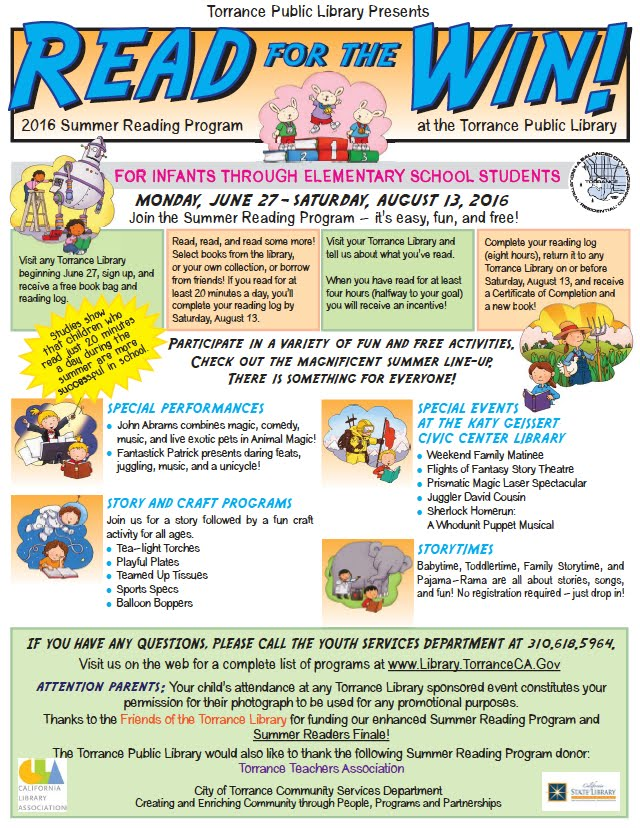 Torrance Library Summer Reading Program - Anza Elementary School