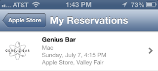how to find genius bar appointment