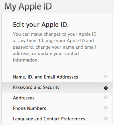 Apple ID: Resetting Forgotten Security Questions - Apple Club
