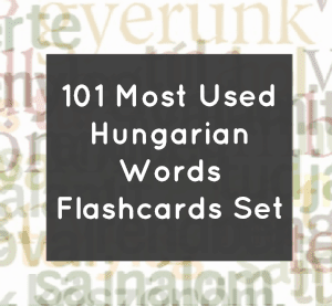 Most Used Hungarian Words Flashcards Package
