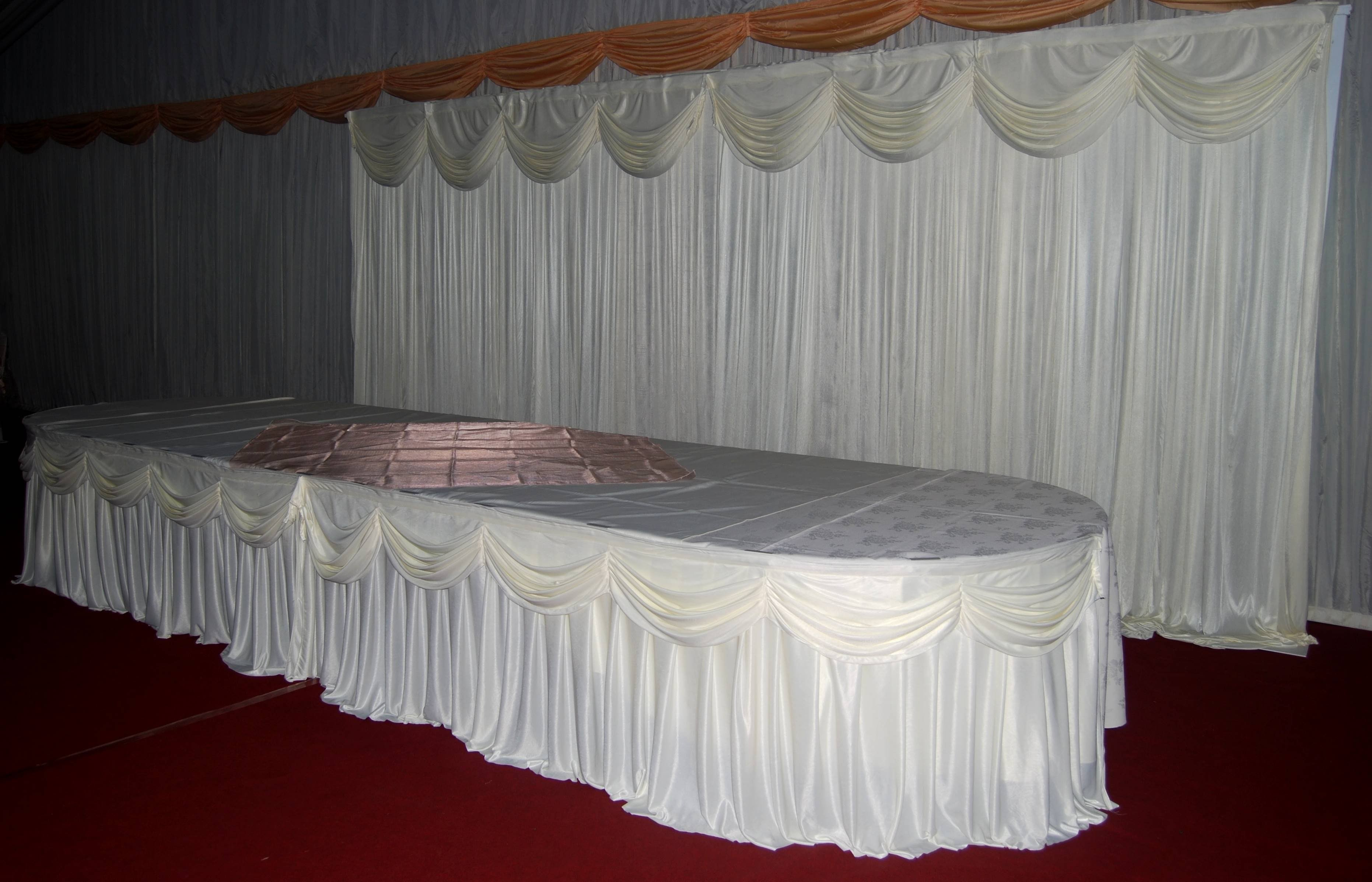 Ceilingdrapes Amp Toptableskirtingwithlights Arriveinstyleuk