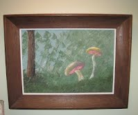 mushrooms done with pallette knife