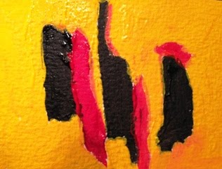 ACEO-Follow Me, I'm the rooster - Abstract-002-CStefan-ArtStudio29