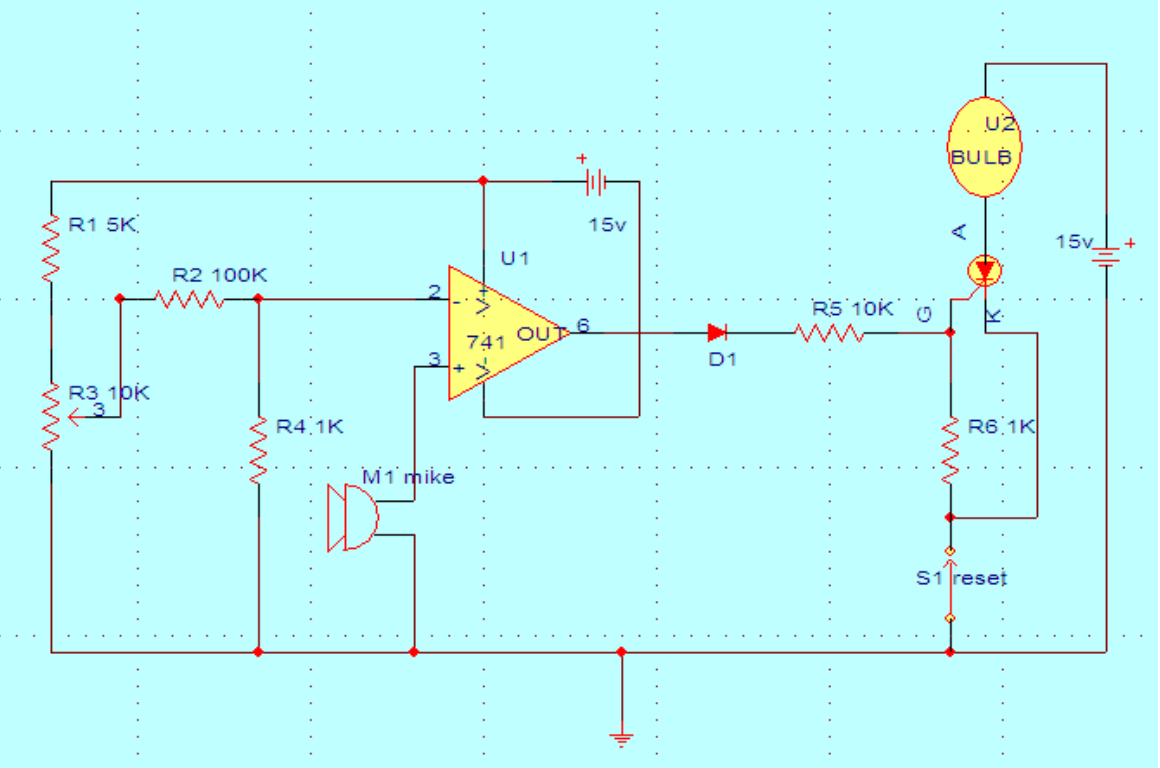 Soundactivatedswitch Arun413kadari Potential Divider Circuit The Above Schematic Shows A Sound Activated Switchthe Resistors R1r2r3 And R4 Are Used As Network Which Provides Reference Voltage