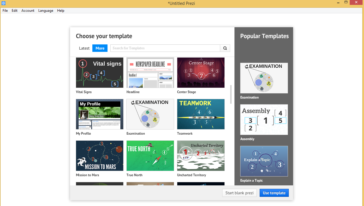 How to change template on prezi gallery professional for How to change template on google sites