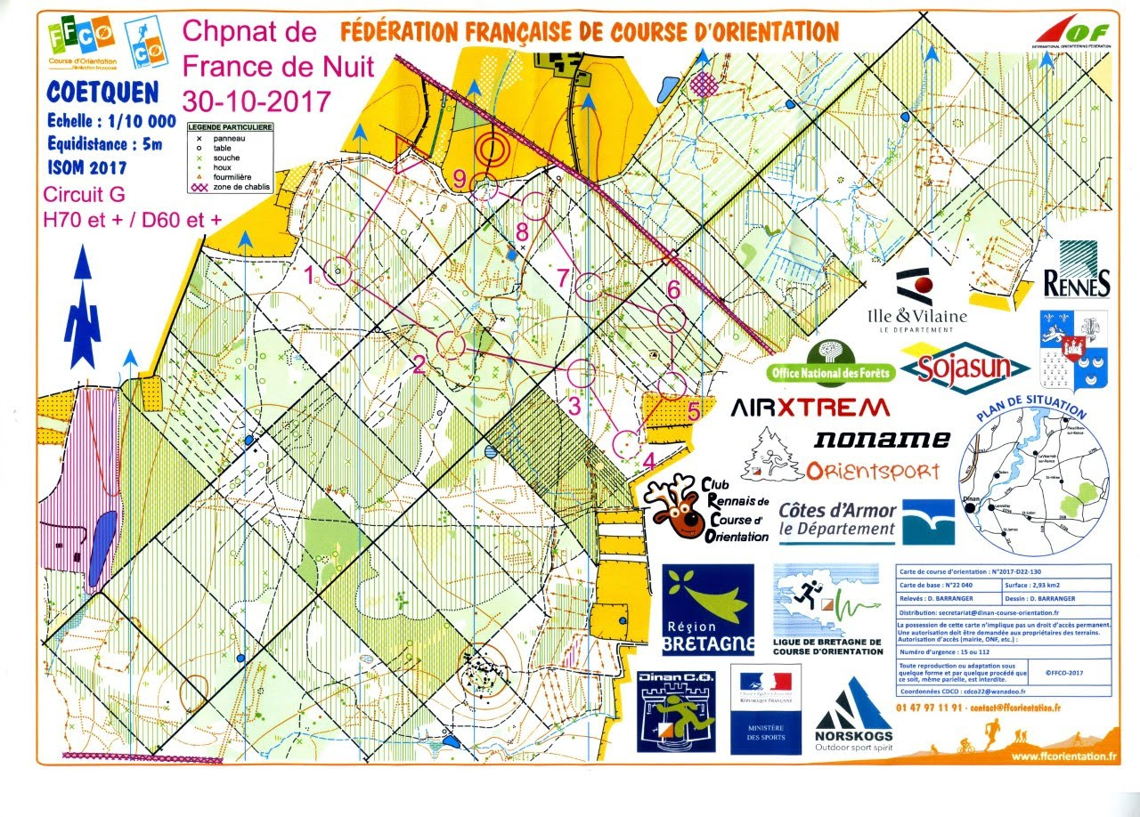 carte course d orientation Championne de France !   Site officiel de l'ASMB CO