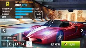 class and car info asphalt 8 garage. Black Bedroom Furniture Sets. Home Design Ideas
