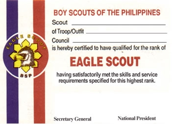 Eagle scouts association of the philippines for Eagle scout certificate template