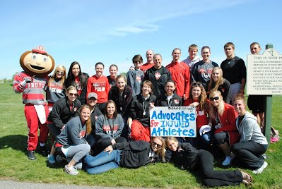 The whole group! Excited for what we were able to raise for Advocates for Injured Athletes!