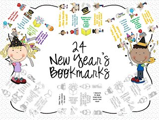 http://www.teacherspayteachers.com/Product/24-New-Years-Bookmarks-1040110
