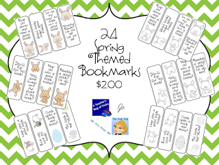 http://www.teacherspayteachers.com/Product/24-Spring-Themed-Bookmarks-652898