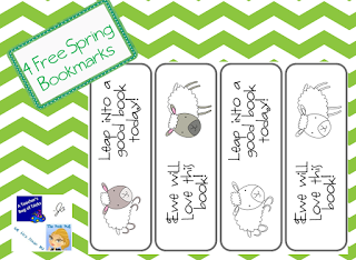 http://www.teacherspayteachers.com/Product/4-Free-Spring-Bookmarks-652886