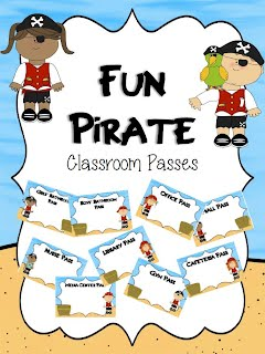 http://www.teacherspayteachers.com/Product/Fun-Pirate-Classroom-Passes-1264761