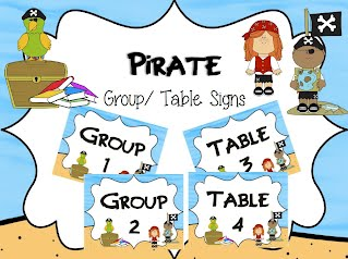 http://www.teacherspayteachers.com/Product/Fun-Pirate-GroupTable-Signs-1264736