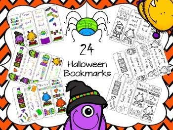 http://www.teacherspayteachers.com/Product/Halloween-Bookmarks-1480711