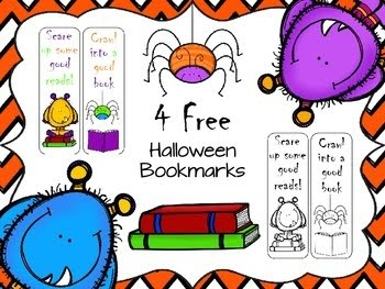http://www.teacherspayteachers.com/Product/Free-Halloween-Bookmarks-1480720