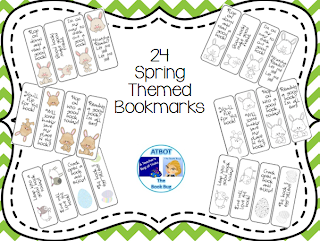 https://www.teacherspayteachers.com/Product/24-Spring-Themed-Bookmarks-652898