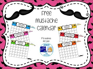 https://www.teacherspayteachers.com/Product/Free-Mustache-Themed-Calendar-1833377