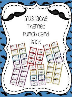 https://www.teacherspayteachers.com/Product/Mustache-Themed-Punch-Card-Pack-1833402