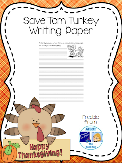 https://www.teacherspayteachers.com/Product/Save-Tom-Turkey-Writing-Paper-258199