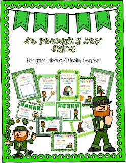 https://www.teacherspayteachers.com/Product/St-Patricks-Day-Signs-for-Your-Library-Media-Center-1721036