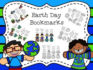 https://www.teacherspayteachers.com/Product/Earth-Day-Bookmarks-2495581