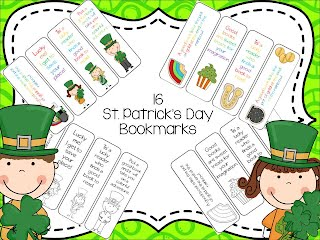 https://www.teacherspayteachers.com/Product/16-St-Patricks-Day-Bookmarks-595594