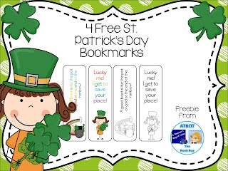 https://www.teacherspayteachers.com/Product/Free-St-Patricks-Day-Bookmarks-595582