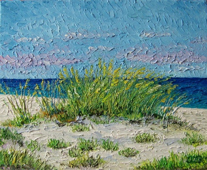 expressionist painting beach grass