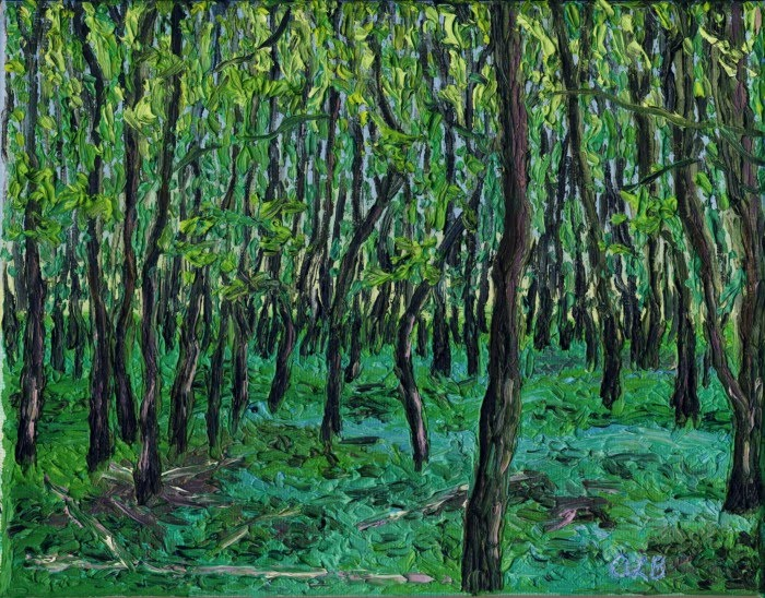 expressionist painting forest preserve