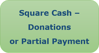 Square Cash - Donations or Partial Payment