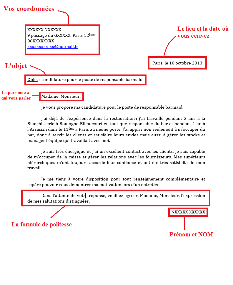 description d une lettre de motivation Activité 3 : Comprendre la structure d'une lettre de motivation  description d une lettre de motivation