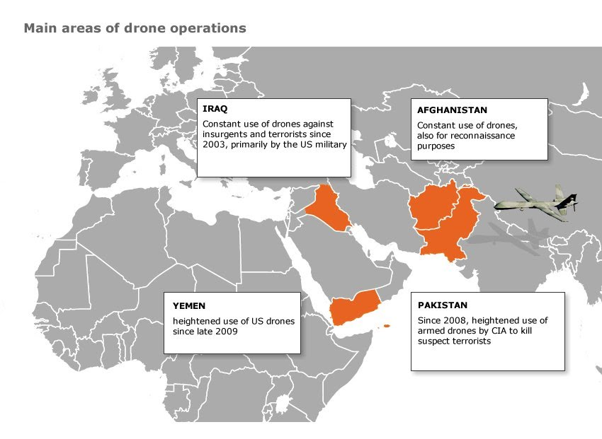 Paradox Of Drones Making War Safer Yet More Likely Aviation In - Us drone strikes map