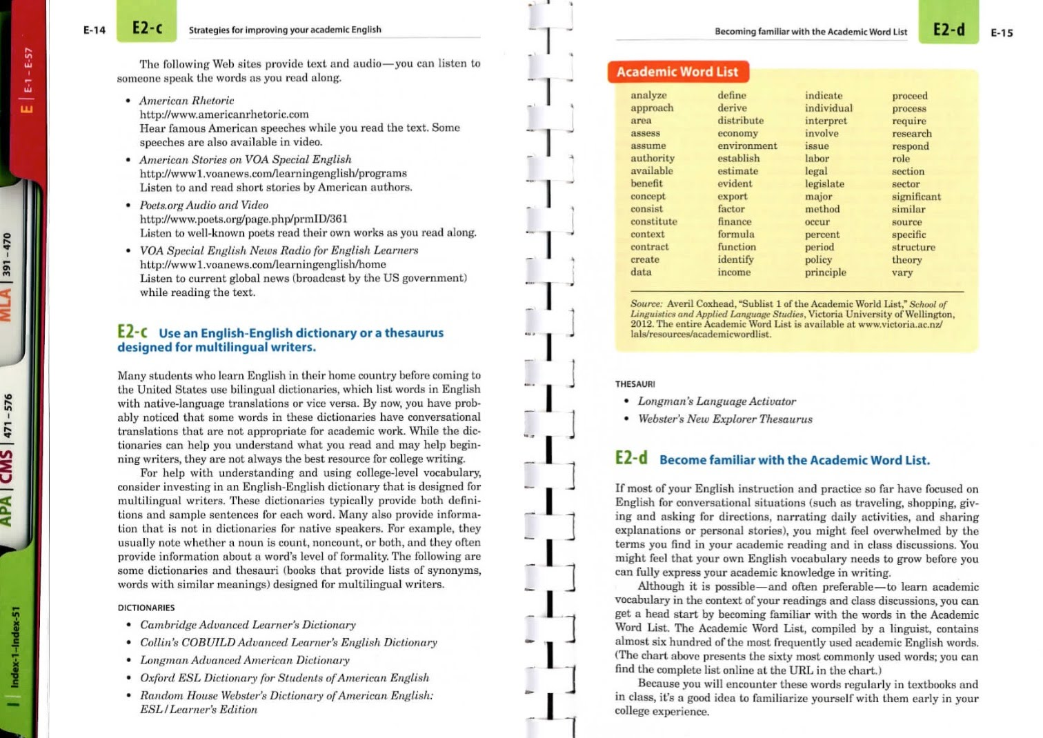 E Resources For Multilingual Writers And Esl A Writer S Reference