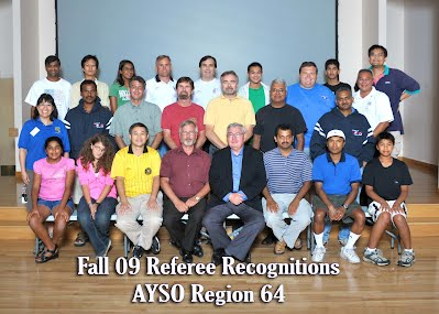 Picture of AYSO Region 64 Referees 2009