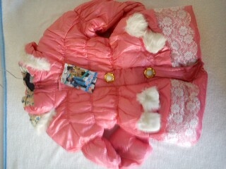 Girls Puffy pink Jacket  Was £16.00 now only £8.00