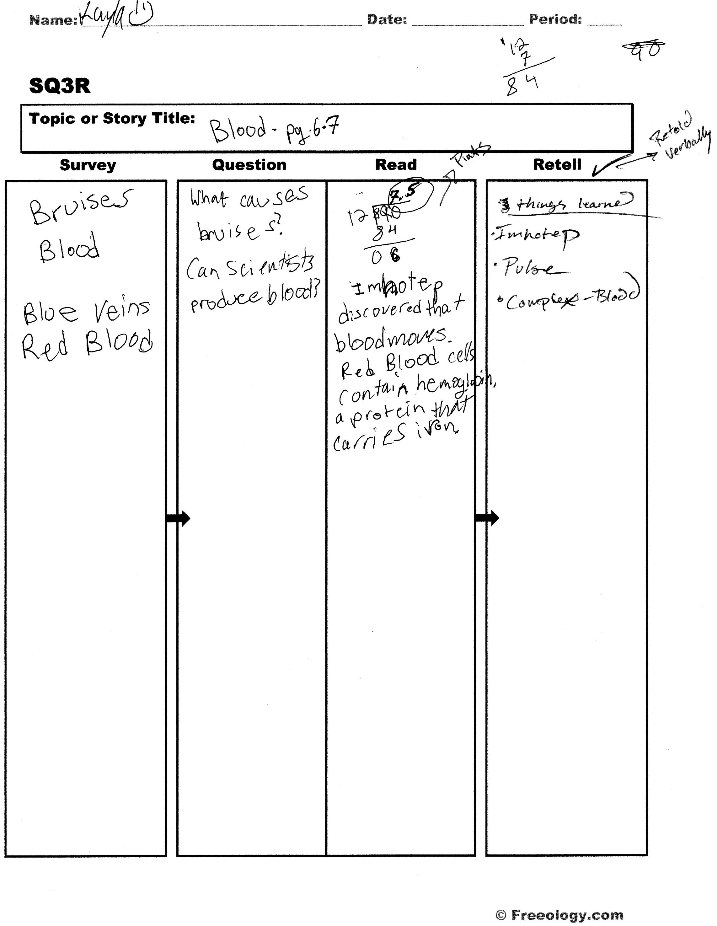 Assessments reading strategies welcome to my case study for Sq3r template